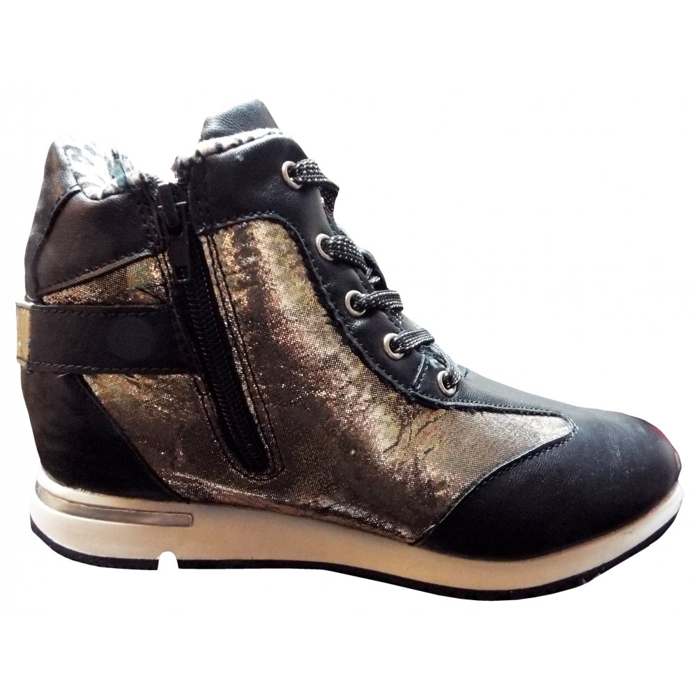 Miss Sixty- Black and gold high tops