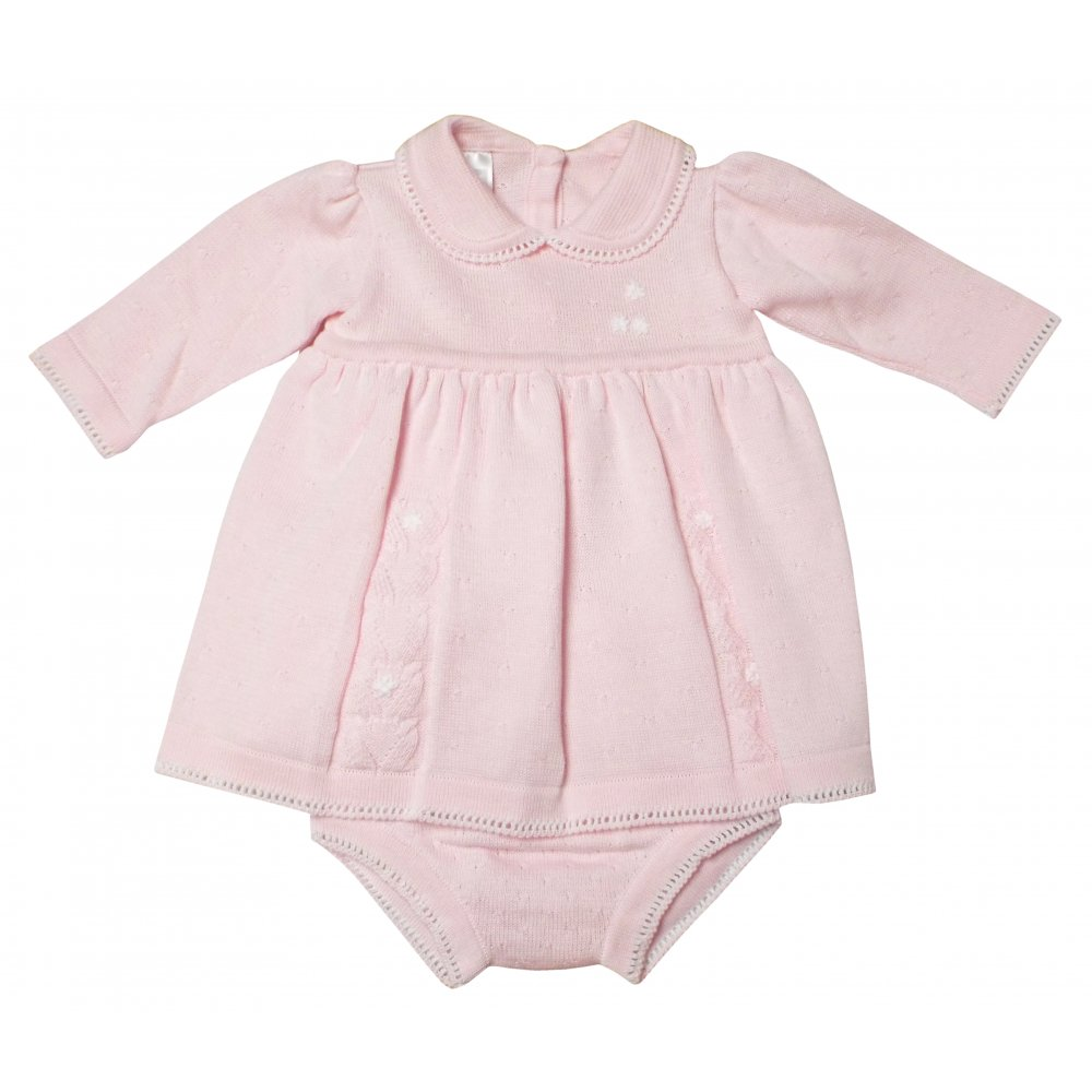 3b639826e4f5b Pex- Pink Knitted dress and knickers with pink knitted coat