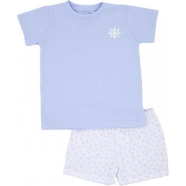 Top And Shorts Blue