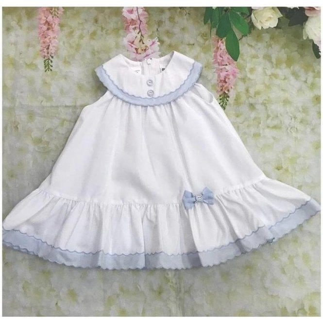 SARAH LOUISE Dress White/blue