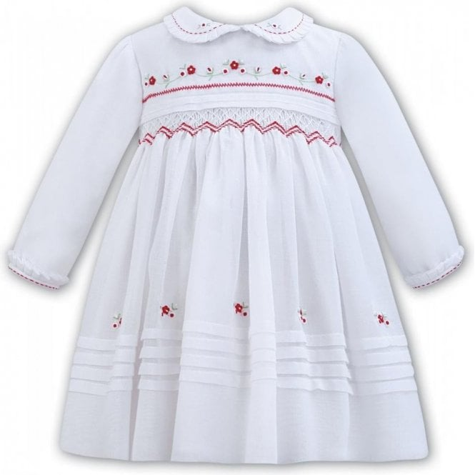 SARAH LOUISE Dress White/red