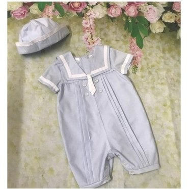 Romper And Cap Blue