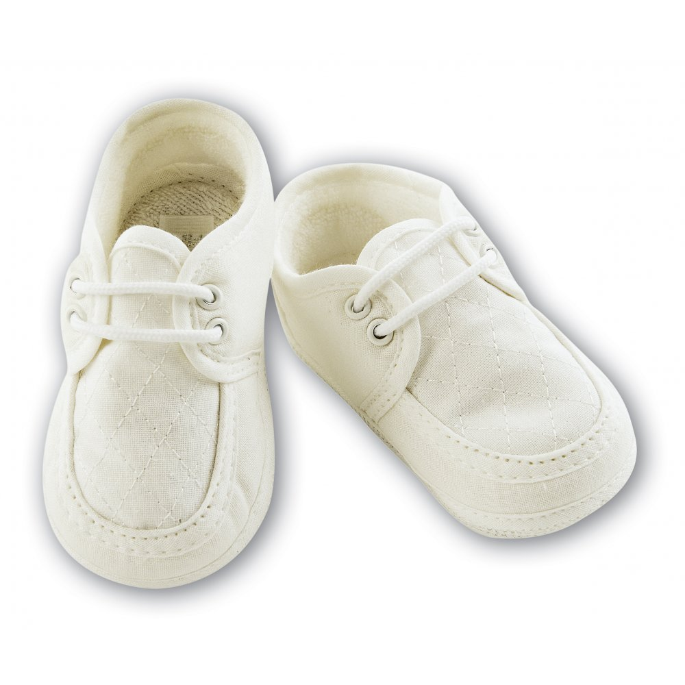 Home : SARAH LOUISE : SARAH LOUISE White Christening/Baptism Shoes