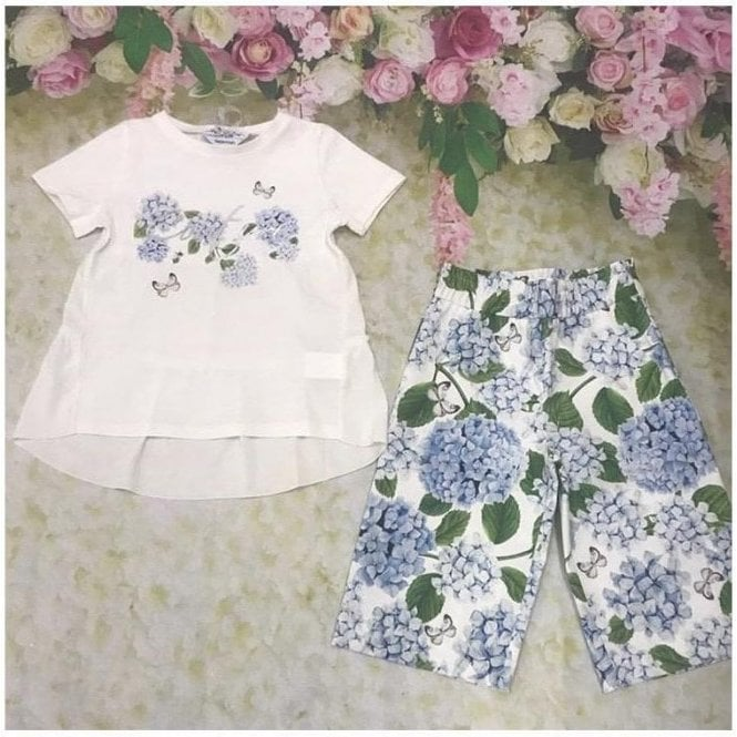 SPECIAL DAY Top And Trousers White/blue