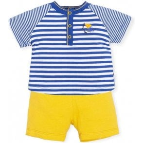 2 Piece Blue/lemon
