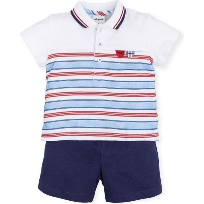 TUTTO PICCOLO 2 Piece Red Navy & White