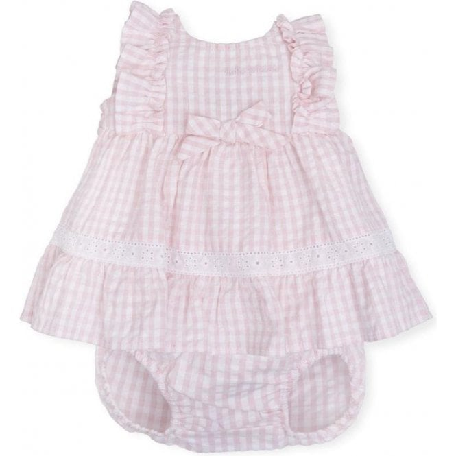TUTTO PICCOLO Dress And Briefs Pink