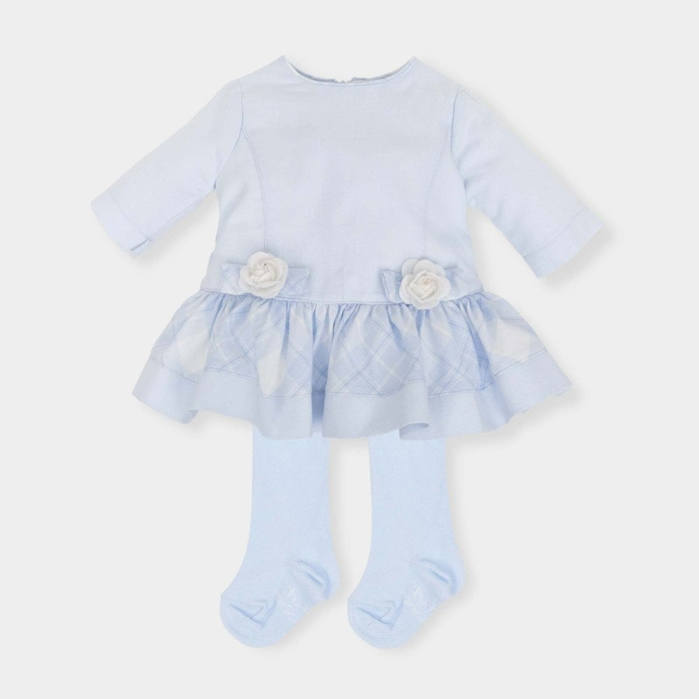 dcce6a9d1 TUTTO PICCOLO Dress And Tights Blue - TUTTO PICCOLO from Baby Melanie UK