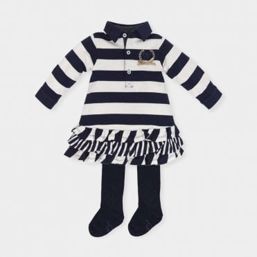 Dress And Tights Navy/white