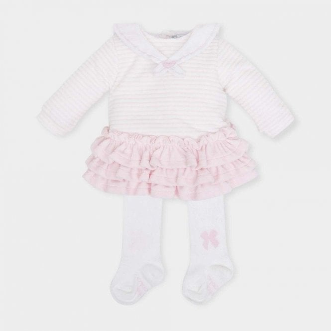 TUTTO PICCOLO Dress And Tights Pink