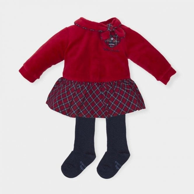 TUTTO PICCOLO Dress And Tights Red