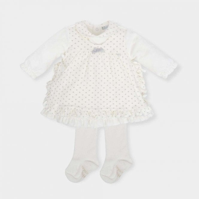 TUTTO PICCOLO Dress And Tights White