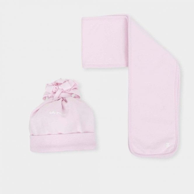TUTTO PICCOLO Hat And Scarf Pink