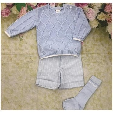Jumper And Shorts Blue