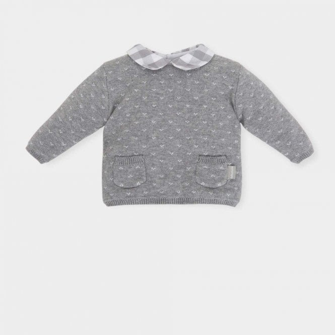 TUTTO PICCOLO Jumper Shorts And Tights Grey