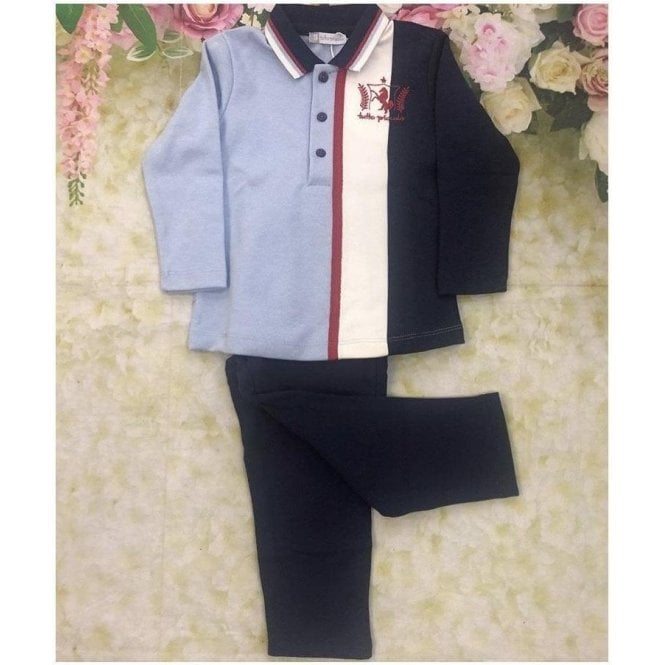 TUTTO PICCOLO Polo And Trousers Blue/navy