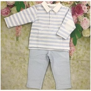 Polo And Trousers Blue