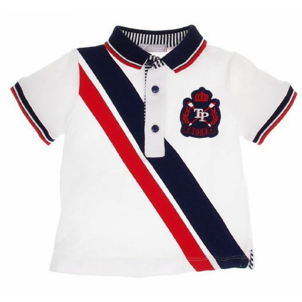 TUTTO PICCOLO Polo Shirt White/blue/red ...