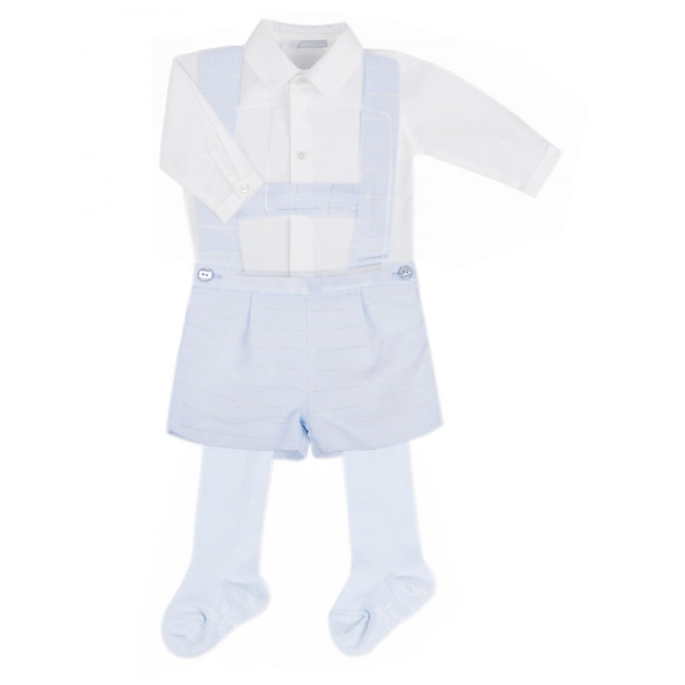 7a49efb9fc TUTTO PICCOLO Shirt Dungarees   Tights White blue