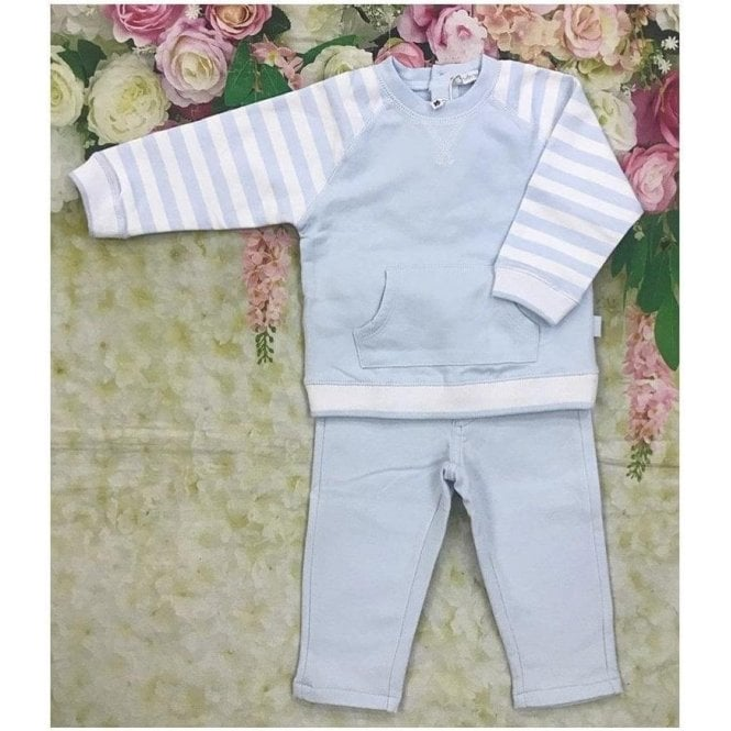 TUTTO PICCOLO Swaetshirt And Pants Blue