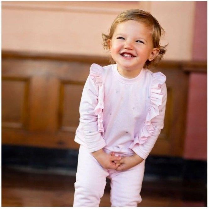 TUTTO PICCOLO Sweatshirt And Trousers Pink