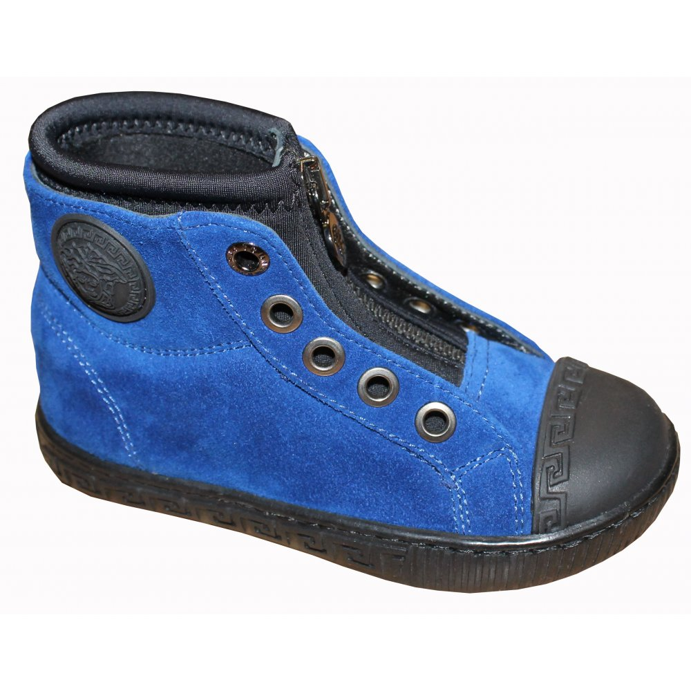 Blue High Top Shoes from Baby Melanie UK