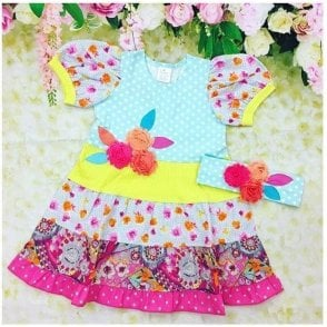 Dress & Headband Multicolour