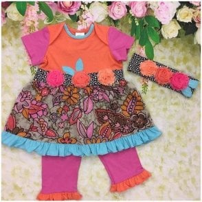 Dress Leggings & Headband Multicolour